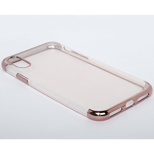 check out 0384f 0e05f Navor Fitted Soft Shell Case for iPhone X - clear,Rose Gold