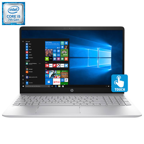 "HP Pavilion 15.6"" Laptop - Silver (Intel Core i5-7200U/1TB HDD/12GB RAM/Windows 10)"