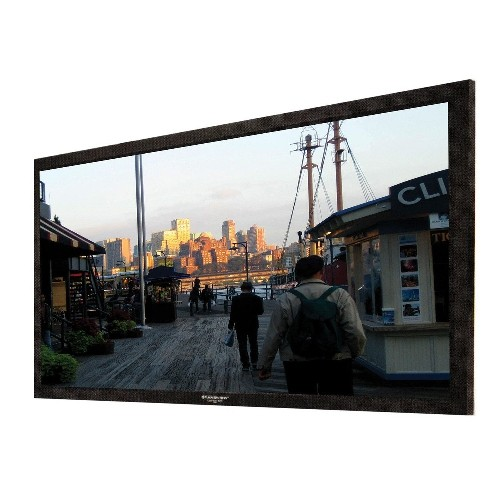 "Grandview LF-PU112 Permanent Fixed-Frame Prestige Series 112"" Projector Screen"