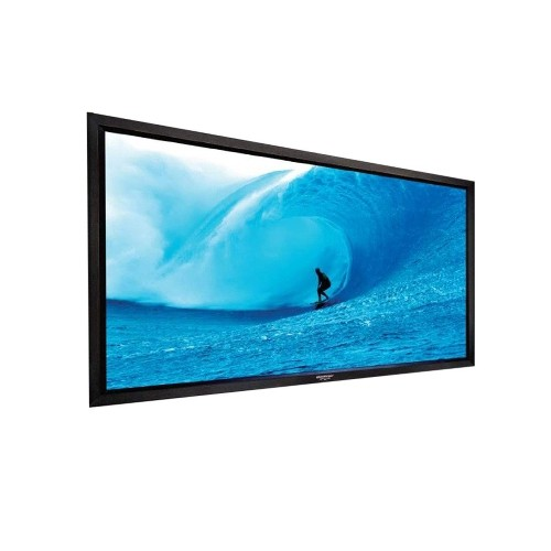 "Grandview LF-PA112 Permanent Fixed-Frame Prestige Series 112"" Perforated Projector Screen"