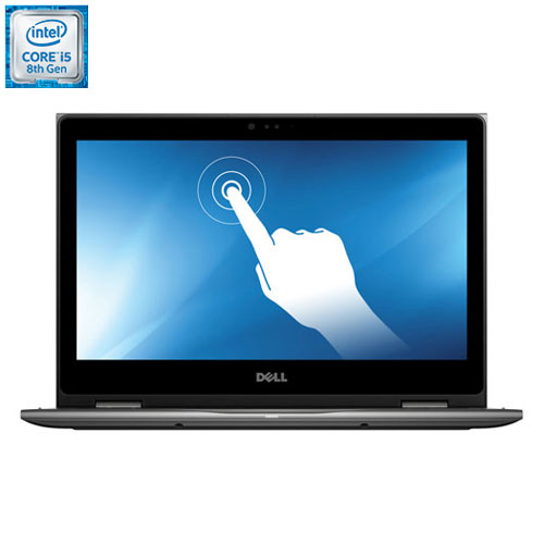 Portable 2-en-1 de 13,3 po Inspiron de Dell - Gris (Core i5-8250U d'Intel/DD 1 To/RAM 8 Go/Win 10)
