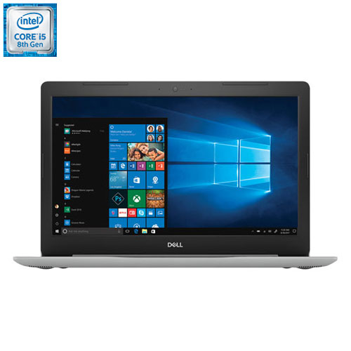"Dell Inspiron 15.6"" Laptop - Silver (Intel Core i5-8250U / 256GB SSD / 8GB RAM/ Windows 10)"