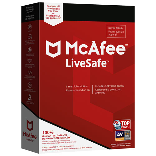 McAfee LiveSafe 2018 (PC/ Mac/ Android/ Chrome/ iOS) - 1 Year