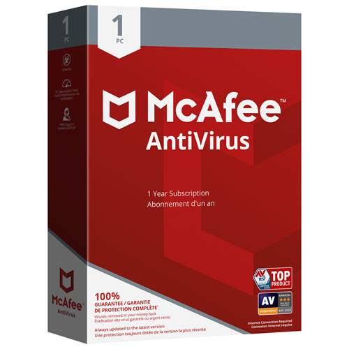 McAfee AntiVirus 2018 (PC/Android) - 1 User - 1 Year : Antivirus ...