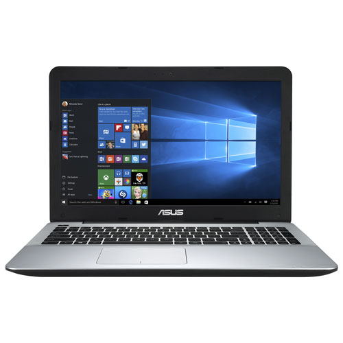 Portable de 15,6 po X555QA d'ASUS - Noir - Argenté (A10-9620P AMD/DD 1 To/RAM 8 Go/Windows 10)