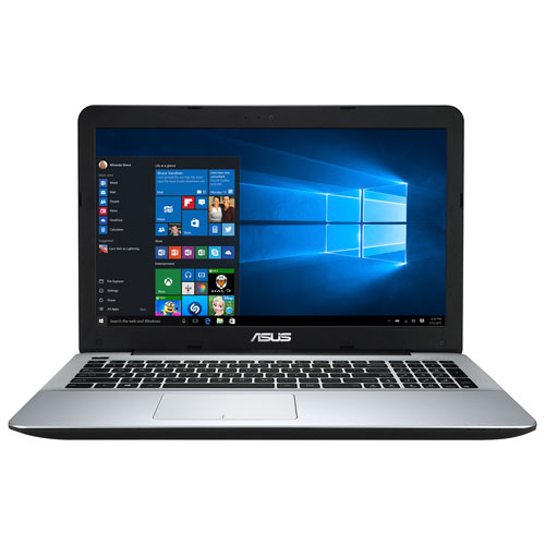Portable de 15,6 po d'ASUS - Noir - Argenté (A12-9720P d'AMD/DD 1 To/RAM 12 Go/Windows 10)