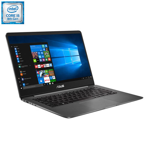 Portable de 14 po ZenBook d'ASUS - Gris (Core i5-8250U d'Intel/SSD 256 Go/RAM 8 Go/Windows 10)