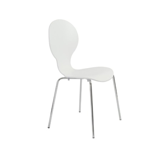 Eurostyle Bunny Stacking Chair in White
