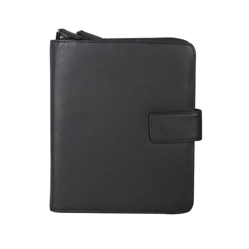 Karla Hanson Professional & Travel Prestige Leather 2-Faced iPad Organizer Case Black