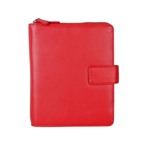 Karla Hanson Professional & Travel Prestige Leather 2-Faced iPad Organizer Case Red