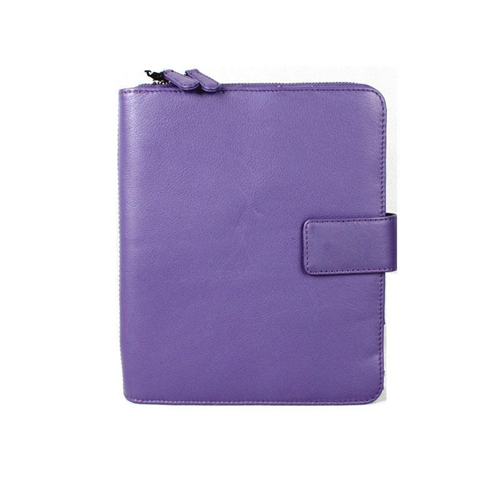 Karla Hanson Professional & Travel Prestige Leather 2-Faced iPad Organizer Case Purple