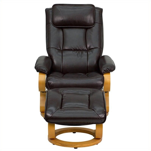 Flash Furniture Contemporary And Ottoman Recliner Brown Recliner