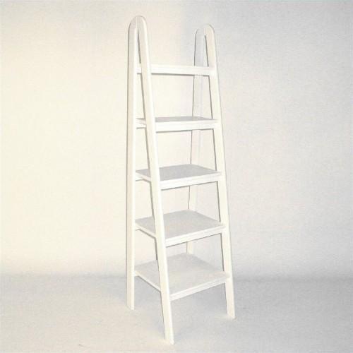 Wayborn Basswood 5 Tier Ladder Bookcase In White Bookcases