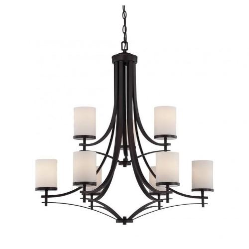 Savoy house colton 9 light chandelier in english bronze