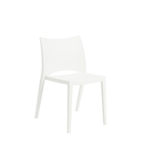 Eurostyle Leslie Stacking Side Chair in White