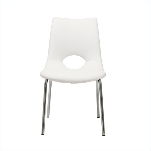 Eurostyle Lara Side Chair in White
