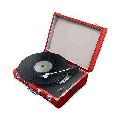 Polaroid PBT4001 Bluetooth Turntable - Red