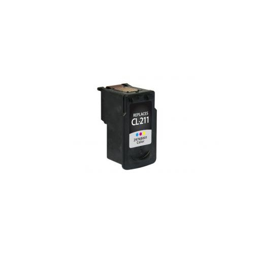 Remanufactured Color Ink Cartridge for Canon CL-211 (DPCCL211CA)