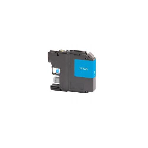 Remanufactured High Yield Cyan Ink Cartridge for Brother LC203 (DPCLC203CCA)