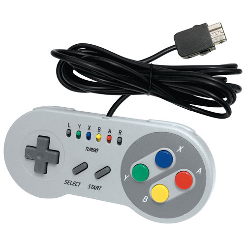 Manette Super Edge Gamepad d'Interworks pour SNES Classic Edition - Gris