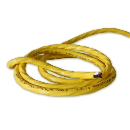 ThruSound Yellow 12AWG 4-Conductor FT4 In-Wall Speaker Wire (200 feet)