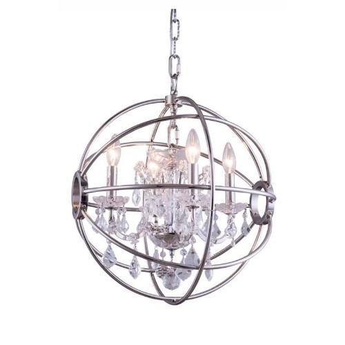 Elegant Lighting Geneva 17 4 Light Royal Crystal Pendant Lamp