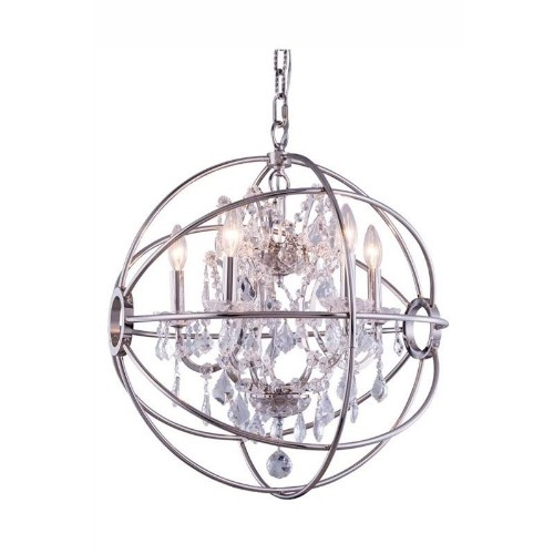 Elegant Lighting Geneva 20 5 Light Royal Crystal Pendant Lamp