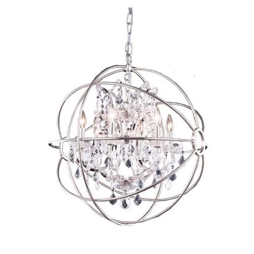 Elegant Lighting Geneva 25 6 Light Royal Crystal Pendant Lamp