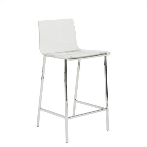 26 Counter Stool In Clear Bar Stools Best Buy Canada