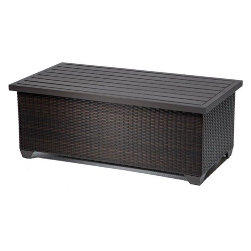 TKC Barbados Outdoor Wicker Storage Coffee Table In