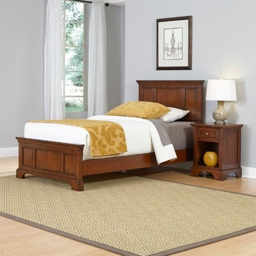 Outstanding Home Styles Chesapeake Twin 2 Piece Bedroom Set In Cherry Beutiful Home Inspiration Ommitmahrainfo