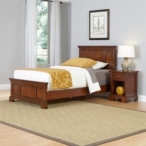 Miraculous Home Styles Chesapeake Twin 2 Piece Bedroom Set In Cherry Download Free Architecture Designs Xerocsunscenecom