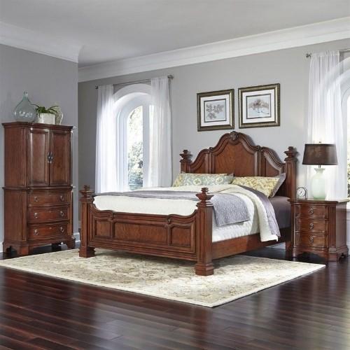 Home Styles Santiago King 3 Piece Bedroom Set In Cognac