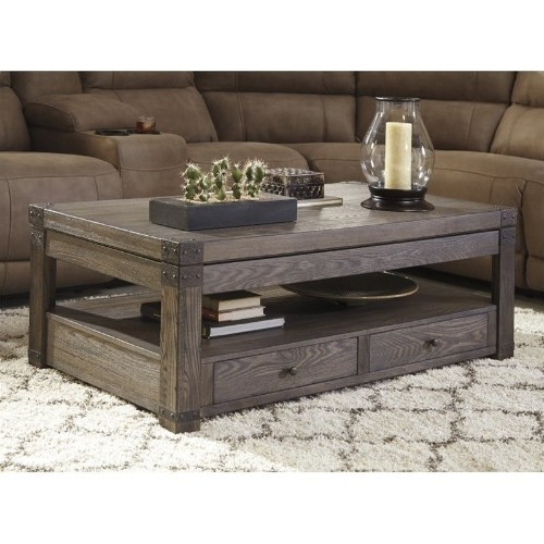Ashley Furniture Contemporary Rectangular Coffee Table Grayish
