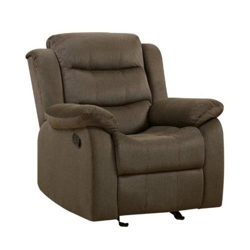 Coaster Rodman Recliner in Two Tone Chocolate
