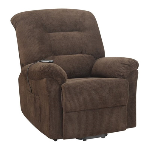 Coaster Power Lift Recliner in Chocolate