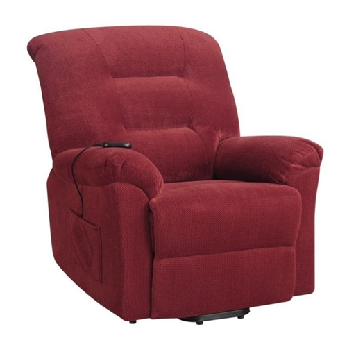Coaster Power Lift Recliner in Brick Red