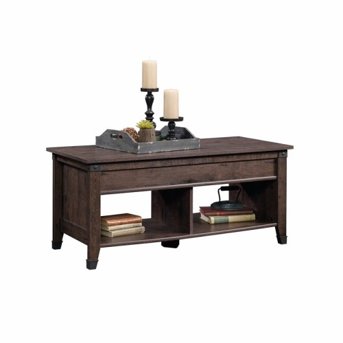 Sauder Carson Forge Lift Top Coffee Table In Coffee Oak Coffee