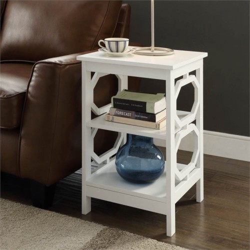 Convenience Concepts Omega Modern End Table White