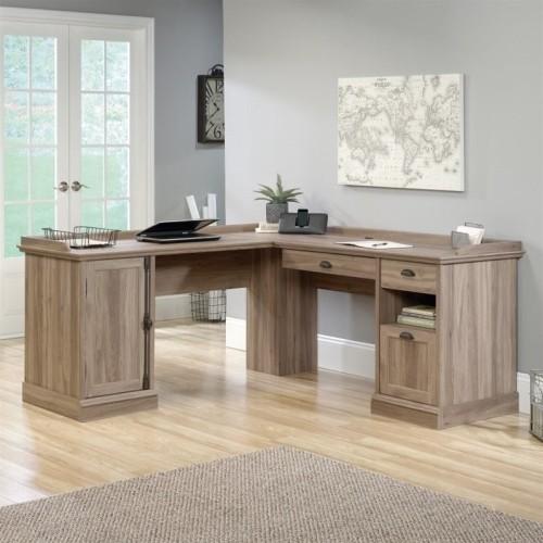 Sauder Barrister Lane Corner Desk With 2 Drawer - Gray