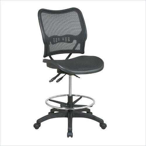 office star space seating ergonomic drafting chair in black office