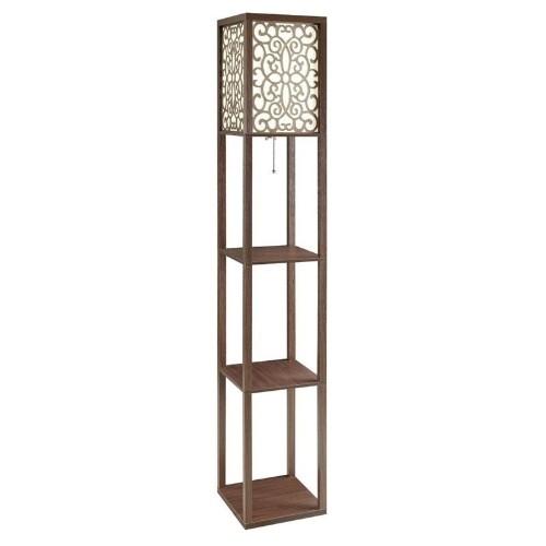 Coaster 3 shelf floor lamp in cappuccino floor lamps best buy canada aloadofball Gallery