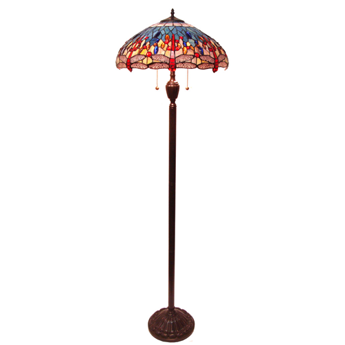Tiffany style dragonfly floor lamp floor lamps best buy canada mozeypictures Images