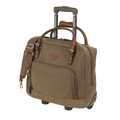 "PILOT CASE 15.4"" LAPTOP IN POLYSUEDE COATED ON POLYESTER, OTTER"