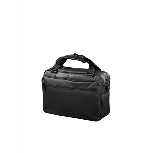 "24hr LAPTOP BAG 15.4"" IN POLYESTER PU COATING ON TOP / POLYESTER LINING, BLACK"