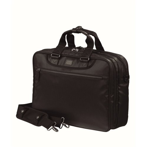 """BRIEFCASE 2 COMP 16""""/ LAPTOP 15.4"""" POLYESTER PU COATING ON TOP/ POLYESTER LINING, BLACK"""