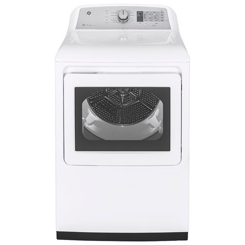 GE 7.4 Cu. Ft. Electric Steam Dryer - White