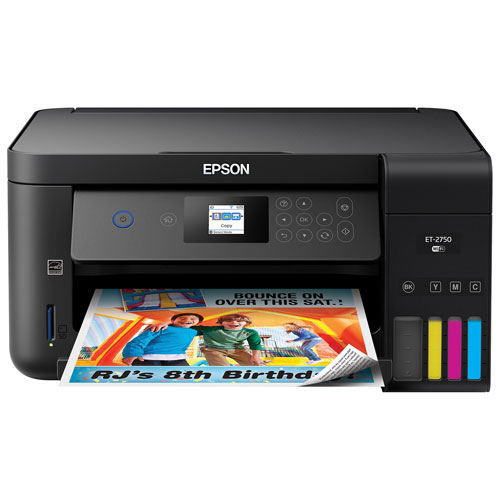 Imprimante à jet d'encre tout-en-un sans fil Expression ET-2750 EcoTank Supertank d'Epson