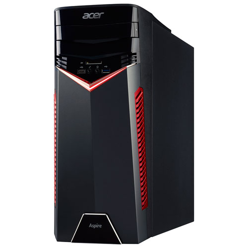 Acer Aspire GX Gaming PC (AMD Ryzen 7 1700/1TB HDD/12GB RAM/AMD Radeon RX580 Graphics/Windows 10)