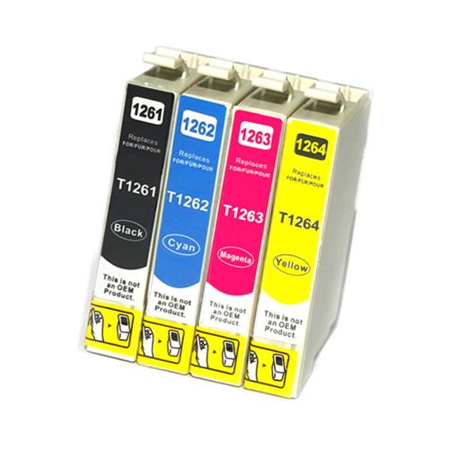 C1 4PK Compatible T126 CMYK Standard Inkjet Cartridges for Epson NX330 NX430 WF-3520 WF-7010 WF-7510 520 545 630 635